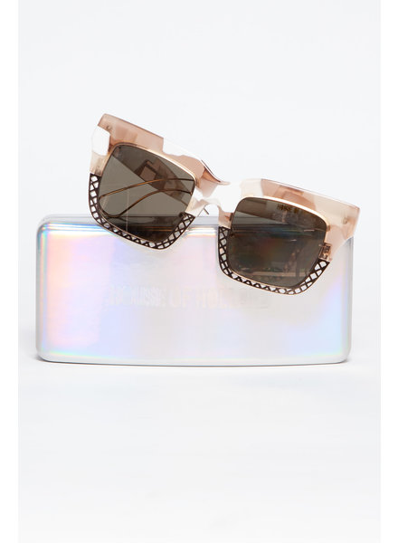 House of Holland METAL AND PLASTIC SUNGLASSES WITH MIRRORED LENSES