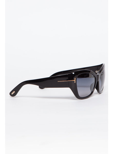 Tom Ford GLOSSY BLACK SUNGLASSES