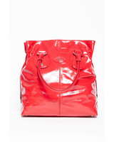 TOD'S HANDBAG IN SHINY RED LEATHER
