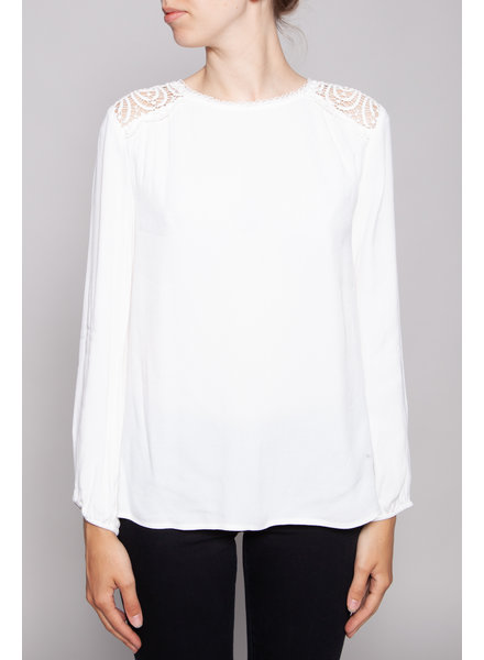 Joie WHITE BLOUSE WITH LACE ON THE BACK - NEW