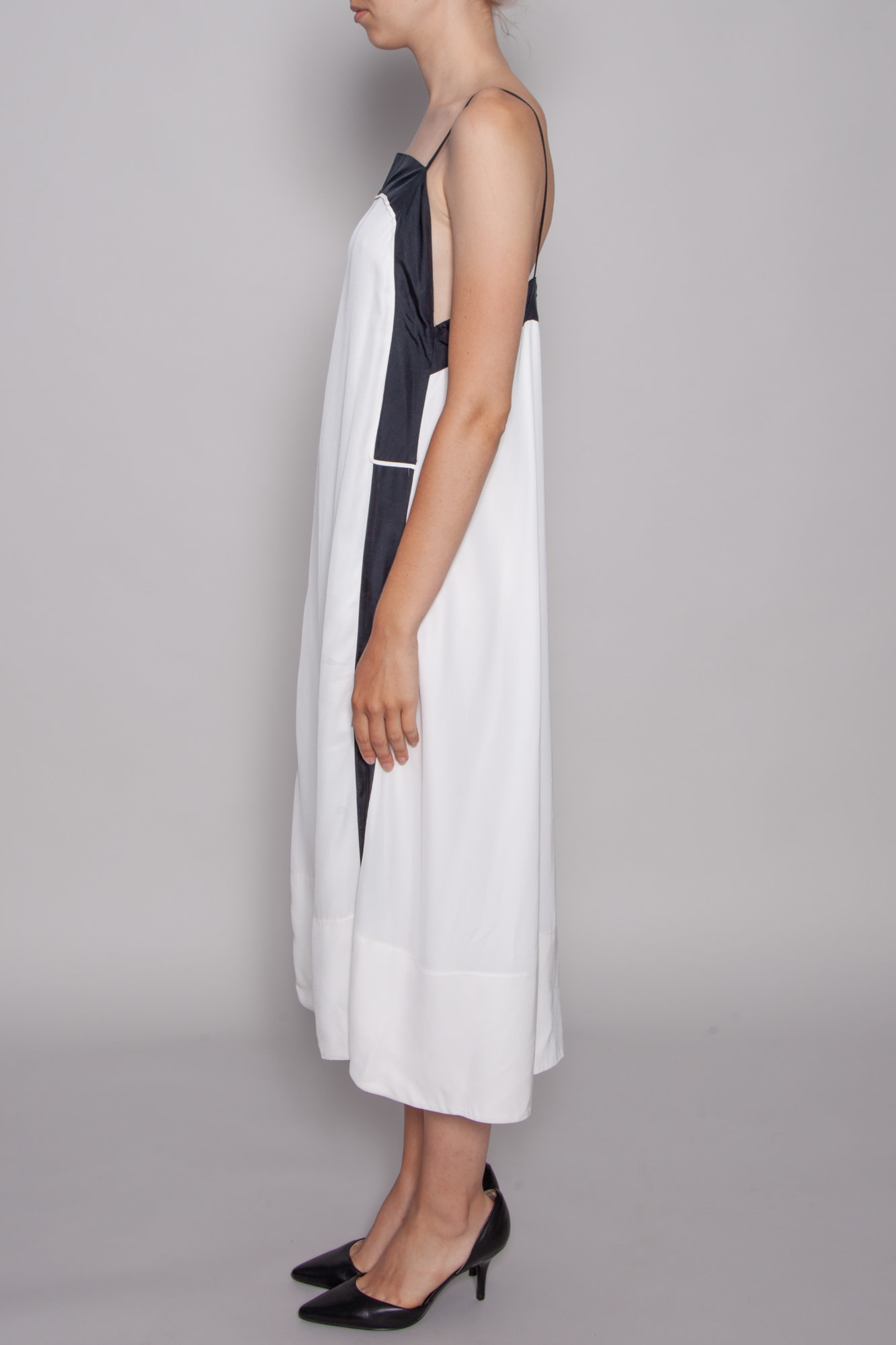 Robe Longue Blanche A Bande Noire See By Chloe Deuxieme Edition