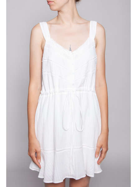 Heartloom WHITE DRESS WITH LACE DETAILS - NEW