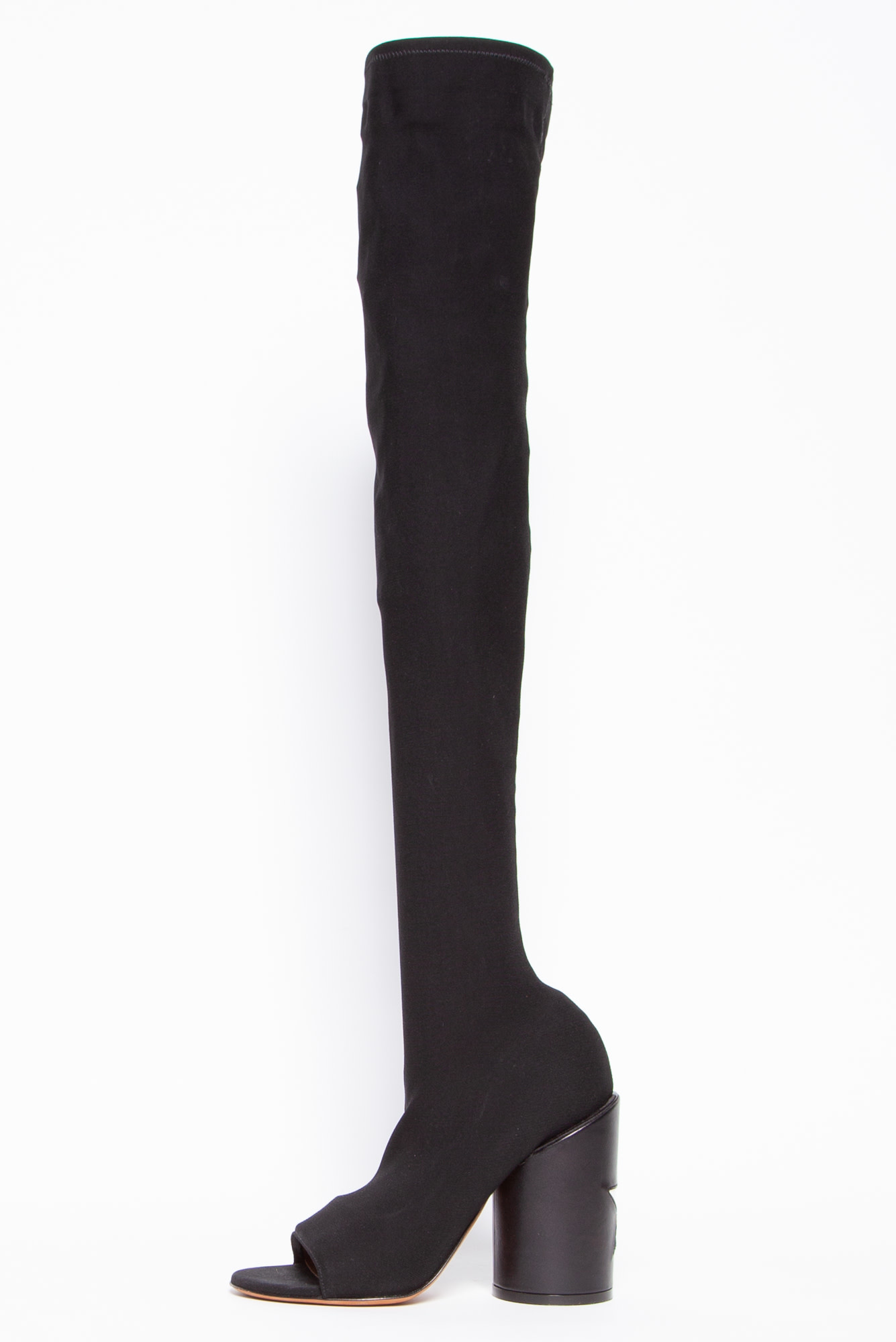 Givenchy REANE LYCRA OVER THE KNEE BOOTS WITH STAR PATCH