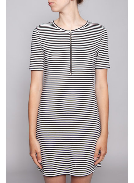Current Elliott BLACK AND WHITE DRESS WITH FRONT ZIPPER