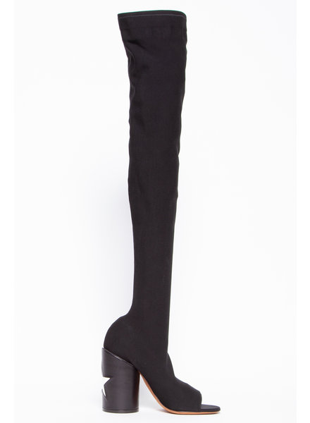 Givenchy NEW PRICE (WAS $850) - REANE LYCRA OVER THE KNEE BOOTS WITH STAR PATCH