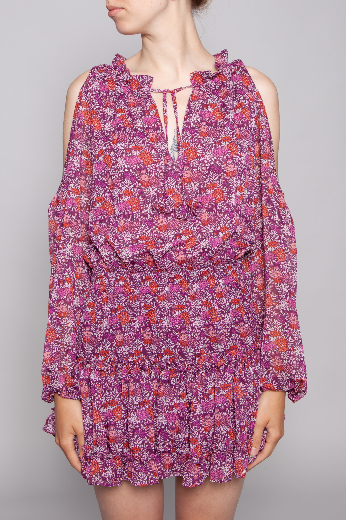 Misa FLORAL DRESS WITH OPEN SHOULDERS - NEW