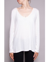 Des petits hauts OFF-WHITE V- NECK TOP WITH LACE DETAILS