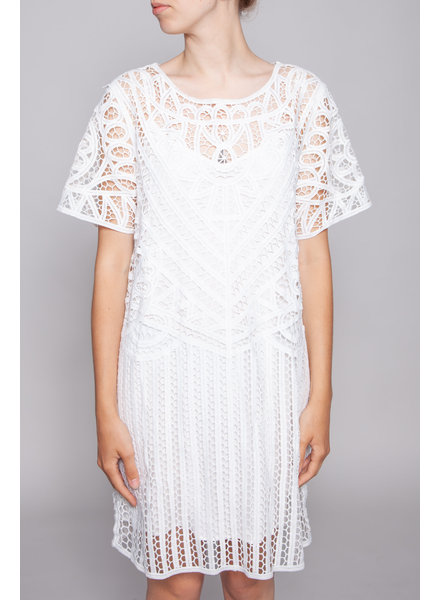 Suncoo WHITE LACE DRESS