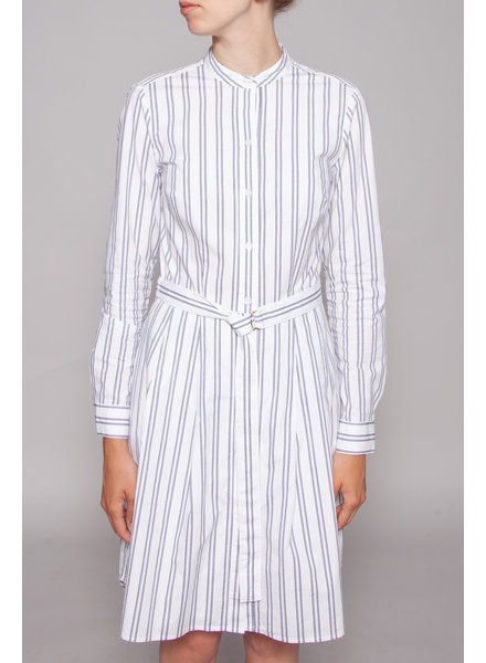 MICHAEL Michael Kors OFF-WHITE DRESS WITH BLUE STRIPES