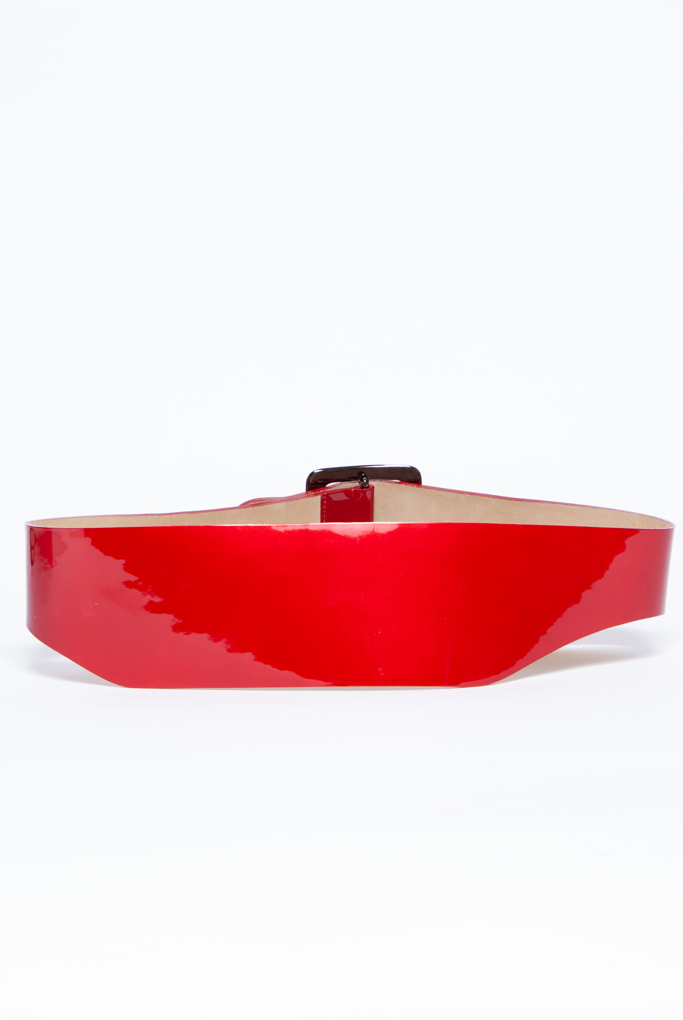 Givenchy RED PATENT LEATHER BELT