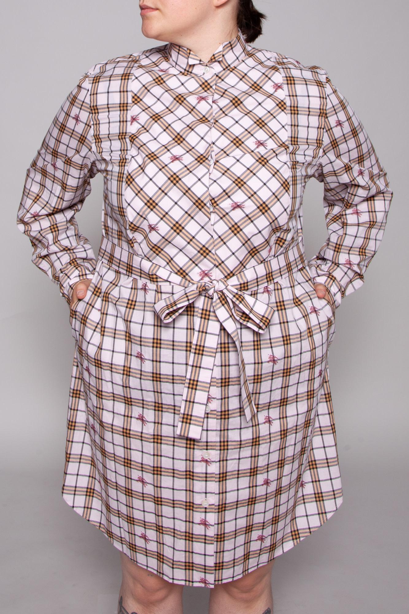 Burberry TARTAN PRINT PINK DRESS - NEW WITH TAG (SIZE 14)