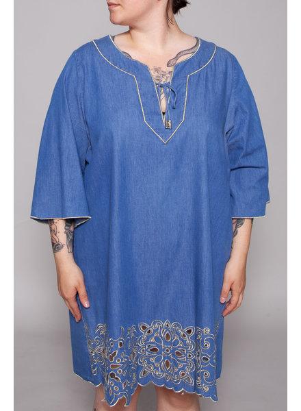 Marina Rinaldi BLUE DENIM DRESS