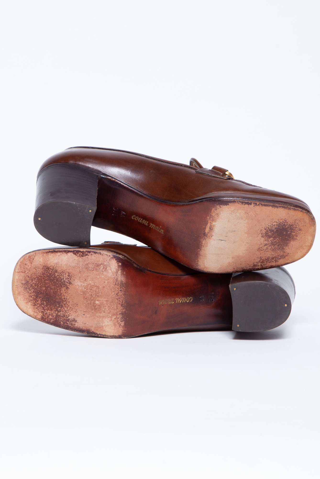 Céline NEW PRICE (WAS $220) - BROWN LEATHER SHOES WITH HORSEBILT