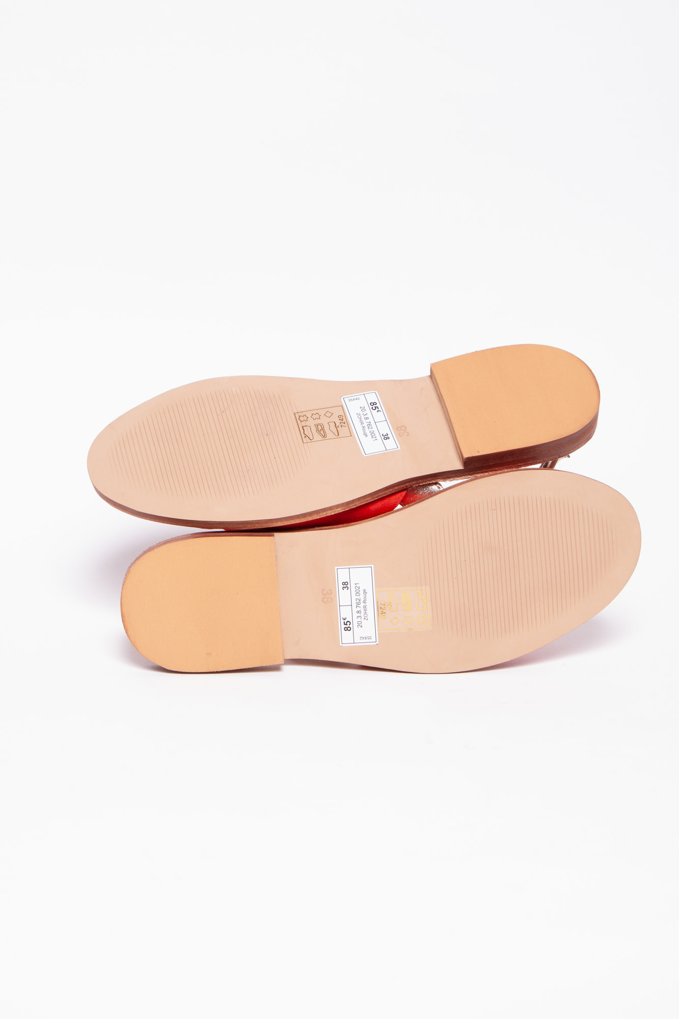 Bocage RED AND GOLD SANDALS - NEW
