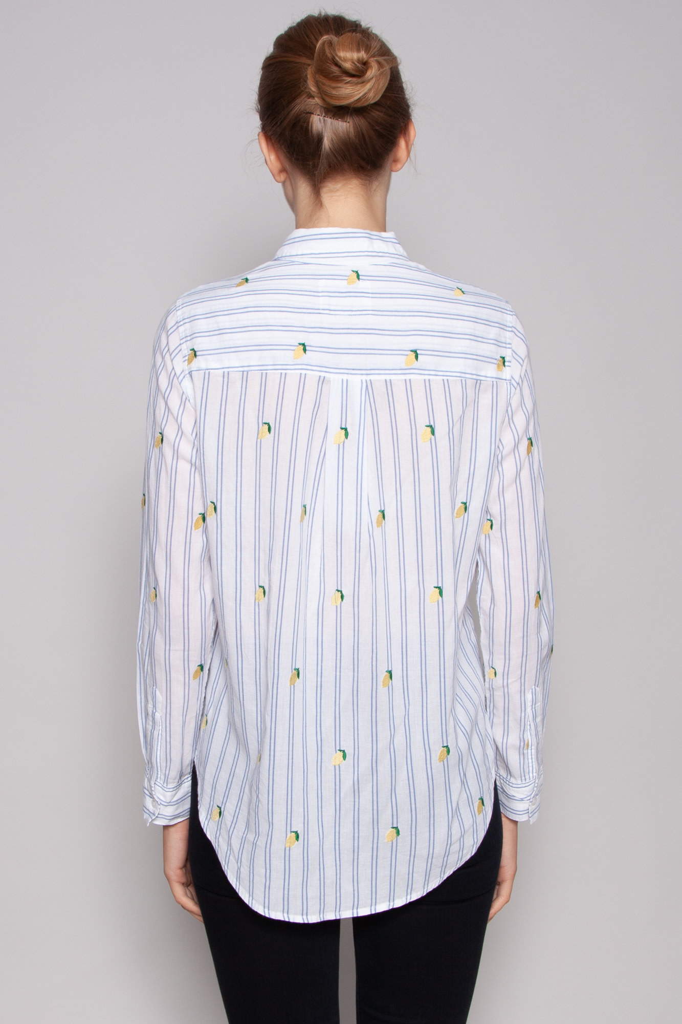 Rails EMBROIDERED CITRUS STRIPED SHIRT - NEW