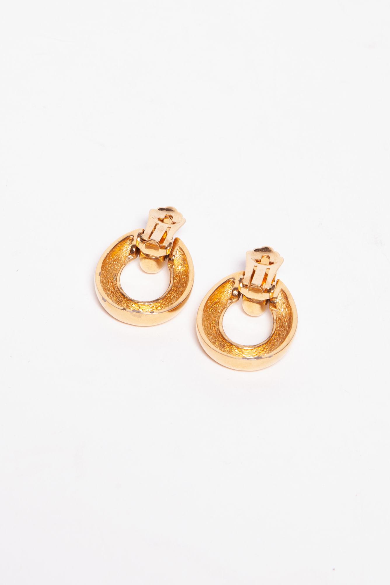Christian Dior GOLDEN PLATED EARRINGS