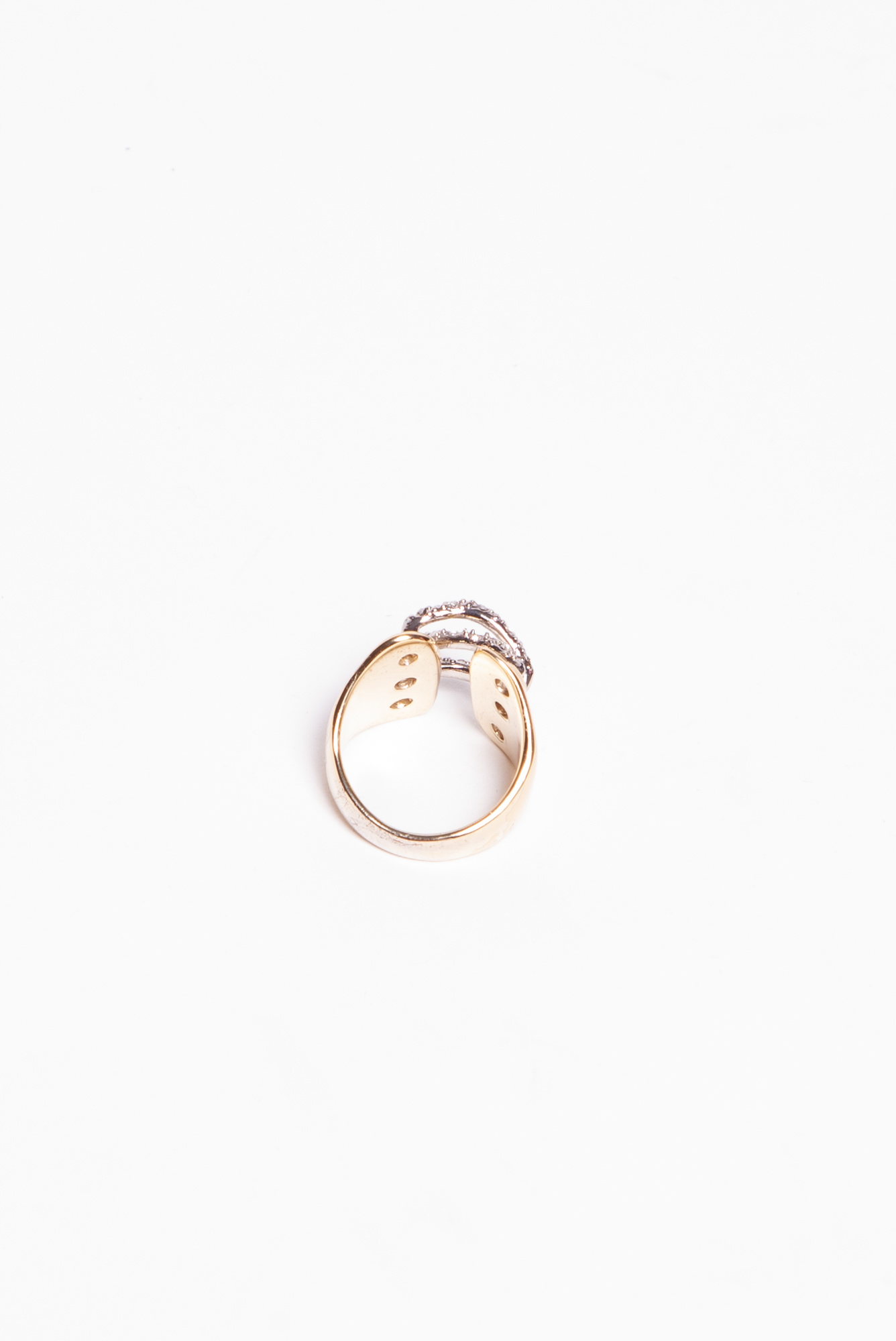 Alexis Bittar GOLDEN RING SET WITH LACED-EFFECT STONES