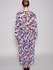 Misa BLUE AND PINK FLORAL DRESS WITH PLEATED SKIRT - NEW WITH TAG