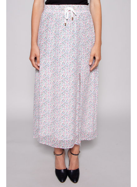 Notes du Nord LONG AND FLUID SKIRT WITH FLOWERS - NEW