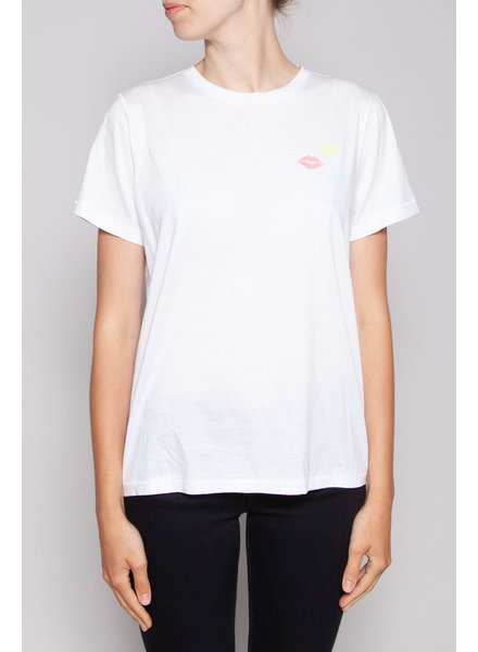 Notes du Nord WHITE T-SHIRT WITH KISSES - NEW
