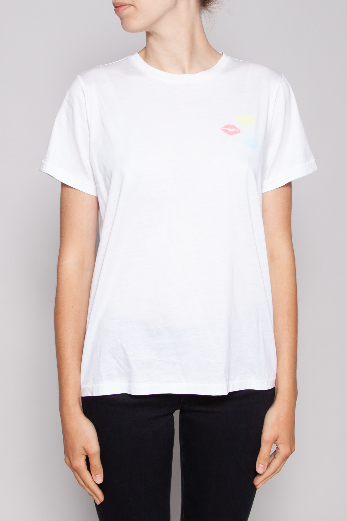 Notes du Nord WHITE T-SHIRT WITH KISSES - NEW WITH TAG