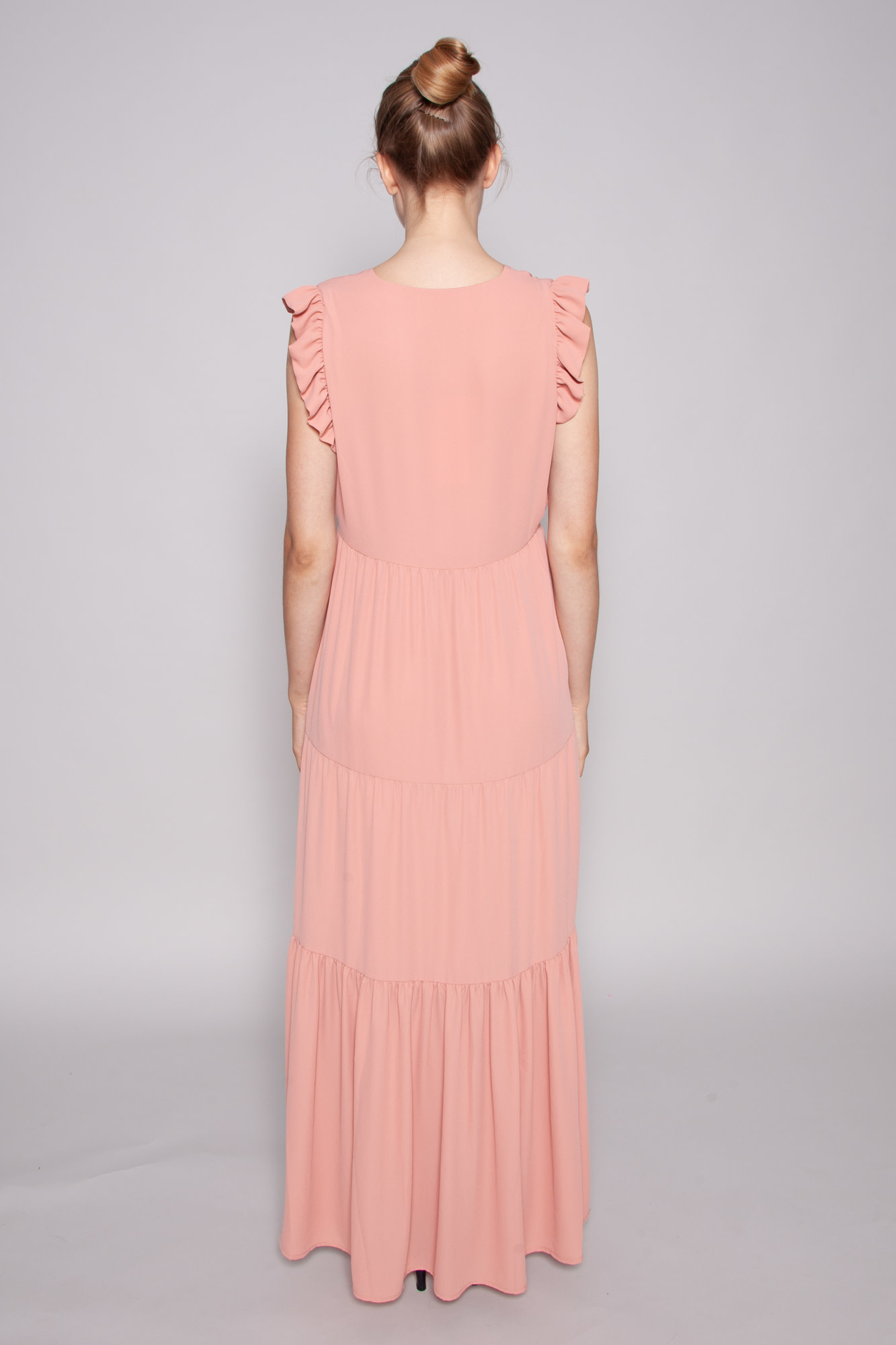 Notes du Nord PINK MAXI DRESS WITH BUTTONS - NEW WITH TAG