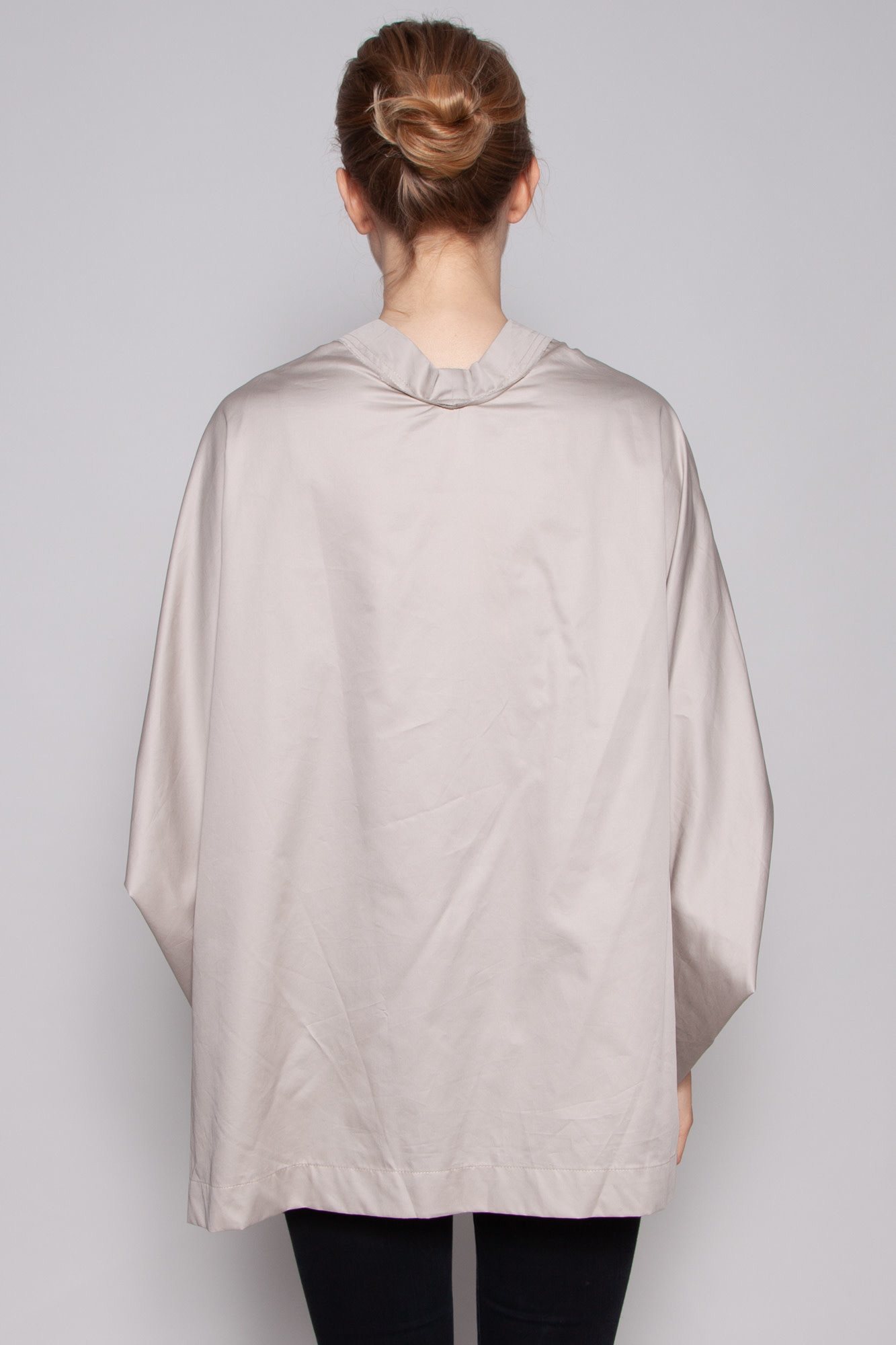 Complexegeometries BEIGE COTTON TUNIC TOP WITH BATWING SLEEVES - NEW