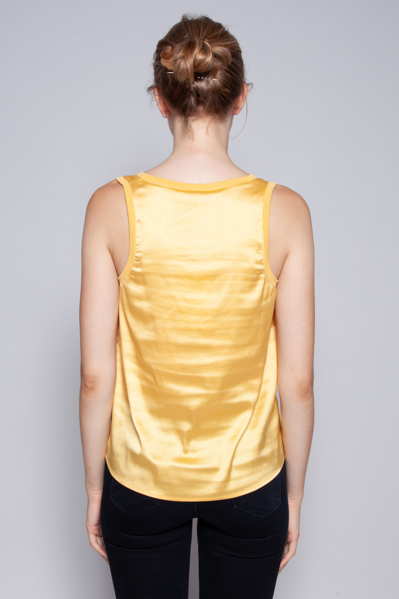 Heartloom YELLOW SATIN TOP - NEW WITH TAGS