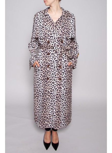 Notes du Nord OLYMPIC LEOPARD PRINT TRENCH COAT - NEW WITH TAG