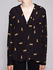 Rails BLACK FELINE PRINT SHIRT - NEW WITH TAGS