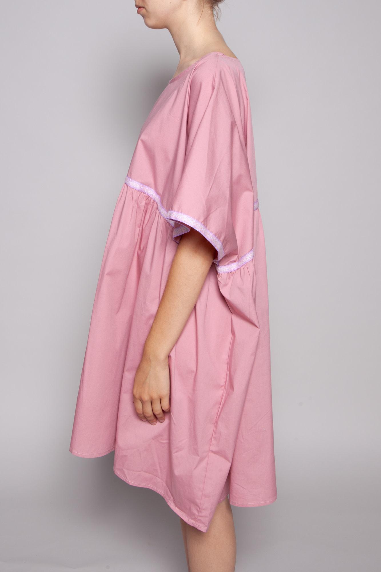 Pitusa EMBROIDERED BLUSH PINK DRESS - NEW