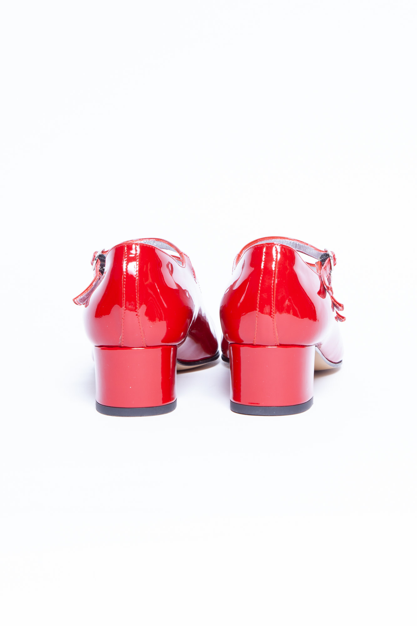Carel RED PATENT SHOES WITH HEELS