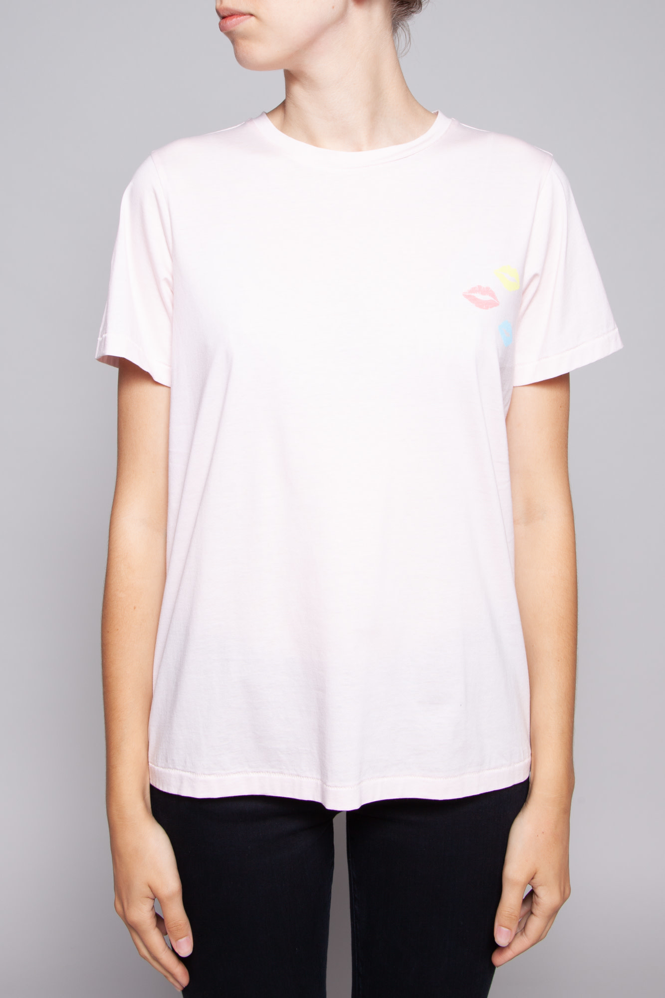 Notes du Nord OXIE PINK T-SHIRT WITH KISSES - NEW WITH TAG