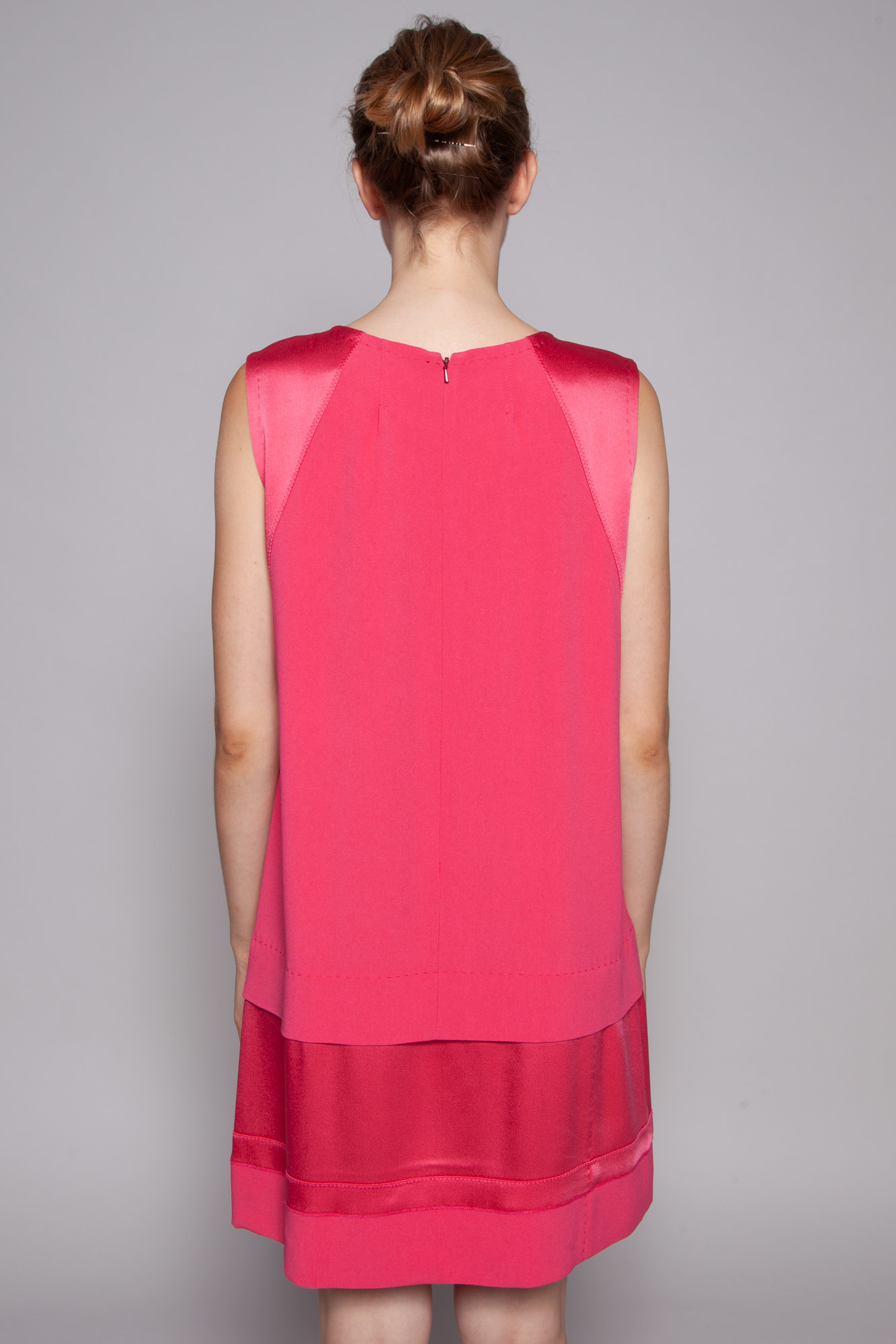 Vanessa Bruno FUSCHIA BI-MATERIAL DRESS - NEW