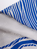 Louis Vuitton WHITE AND BLUE LEOPARD-PRINT HANDBAG PRINT SCARF