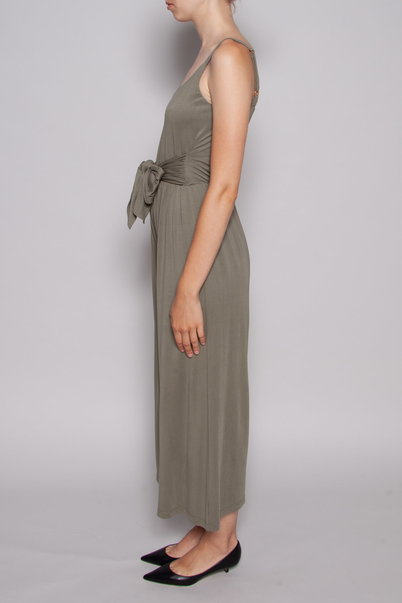 Heartloom OLIVE JUMPSUIT WITH INTEGRATED BELT - NEW