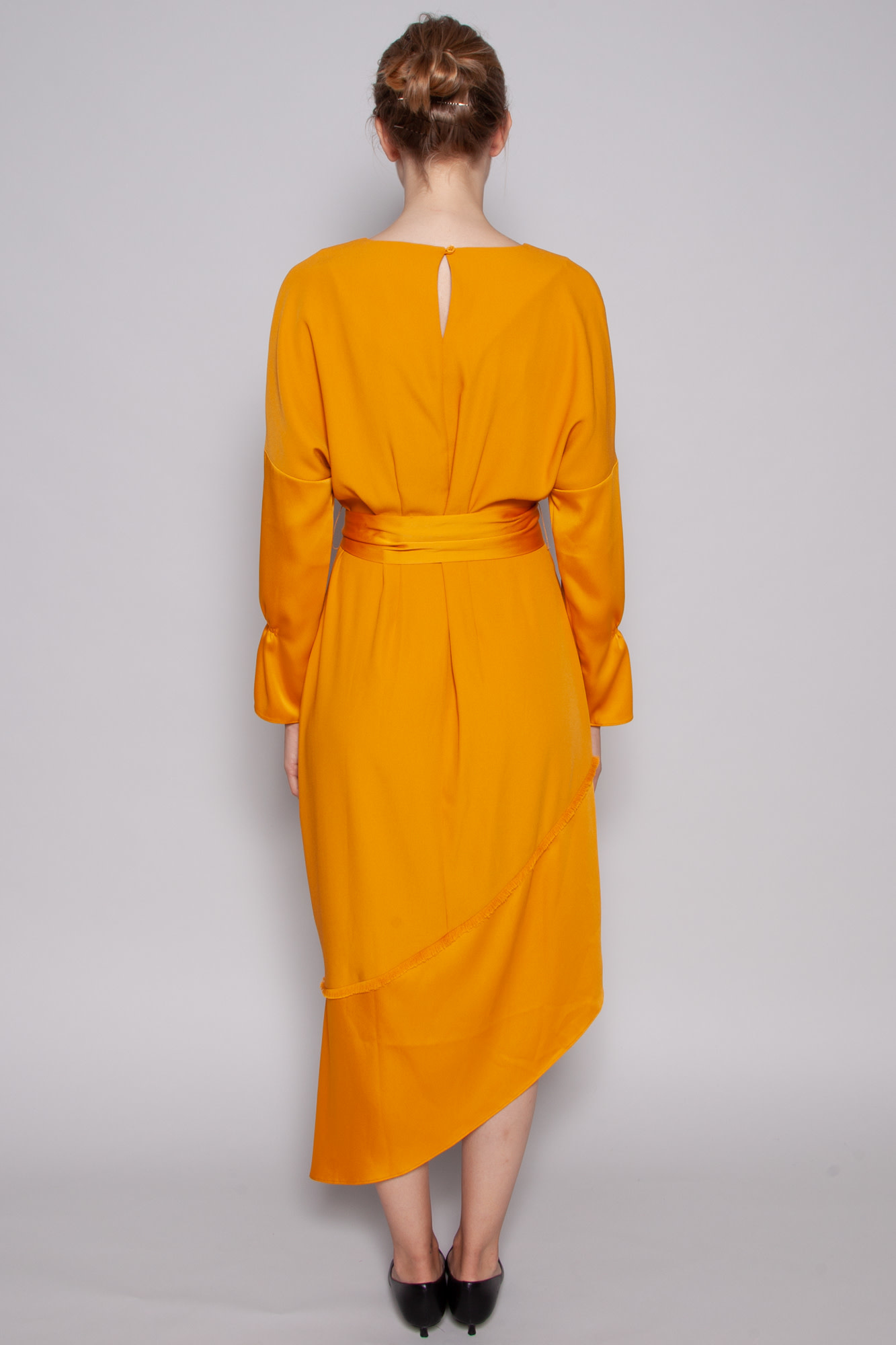 Charli MUSTARD YELLOW ASYMMETRIC BOTTOM DRESS - NEW WITH TAG