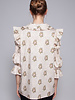Notes du Nord RINA BEIGE FLOWER DOT BLOUSE - NEW WITH TAG