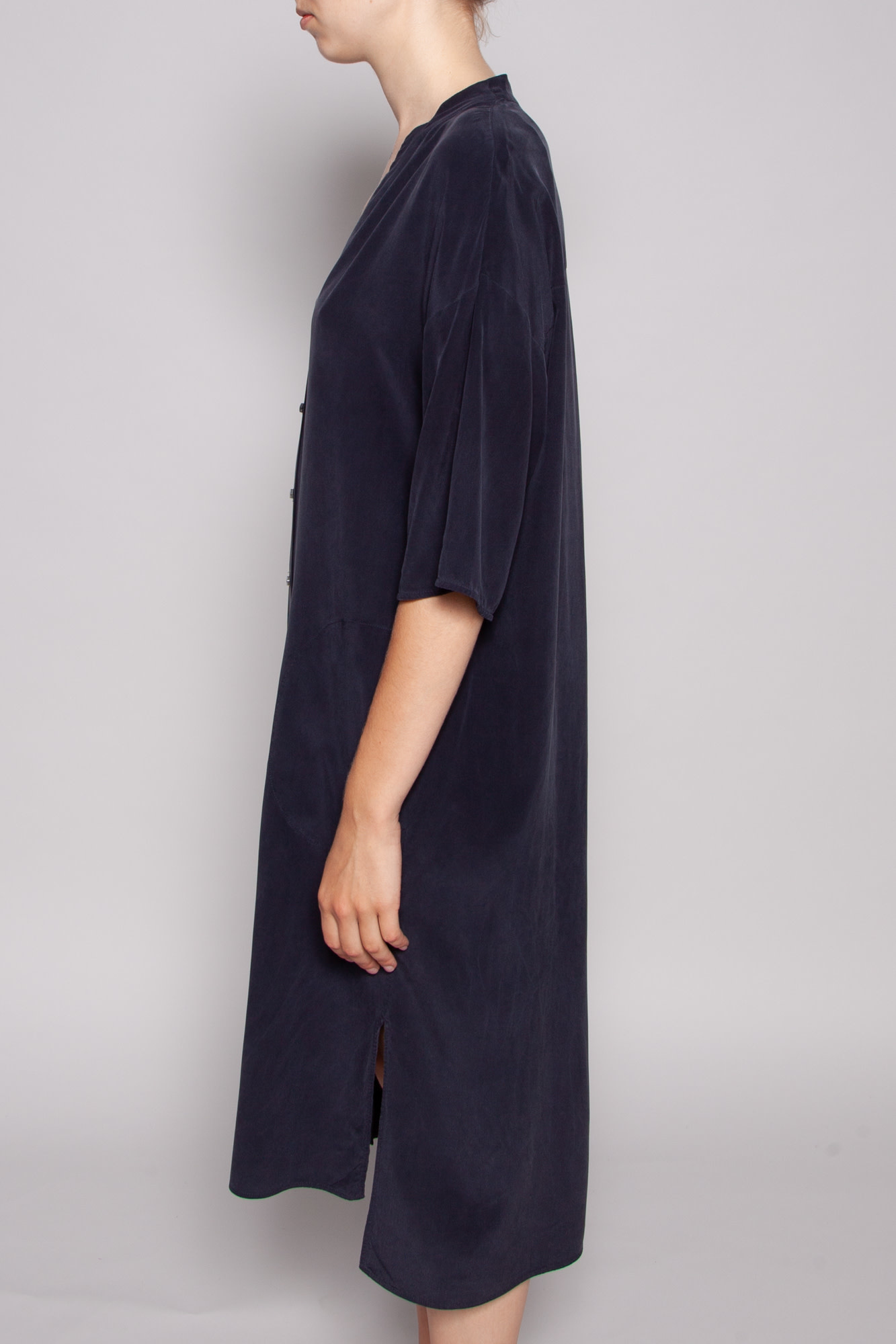 COS NAVY BLUE SILK DRESS