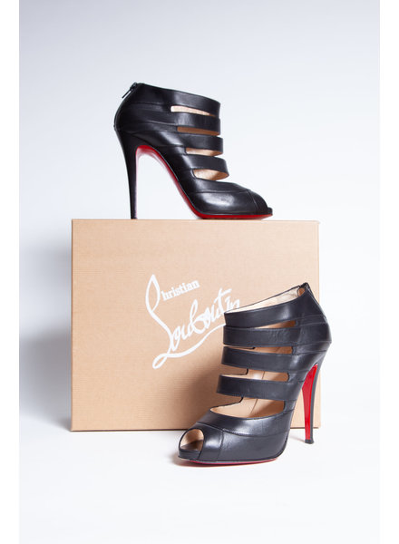 Christian Louboutin BLACK PUMPS WITH OPEN TOE