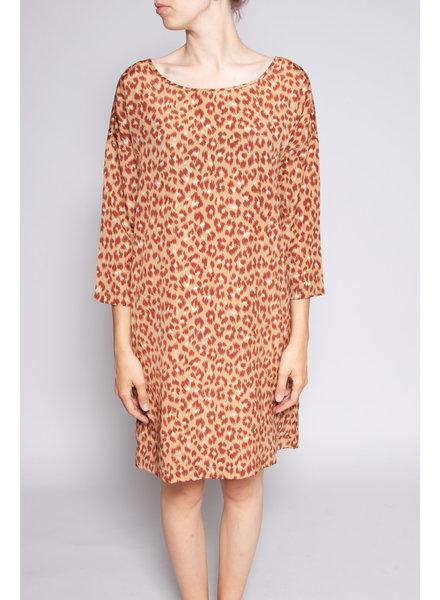 Des petits hauts BROWN LEOPARD PRINT DRESS