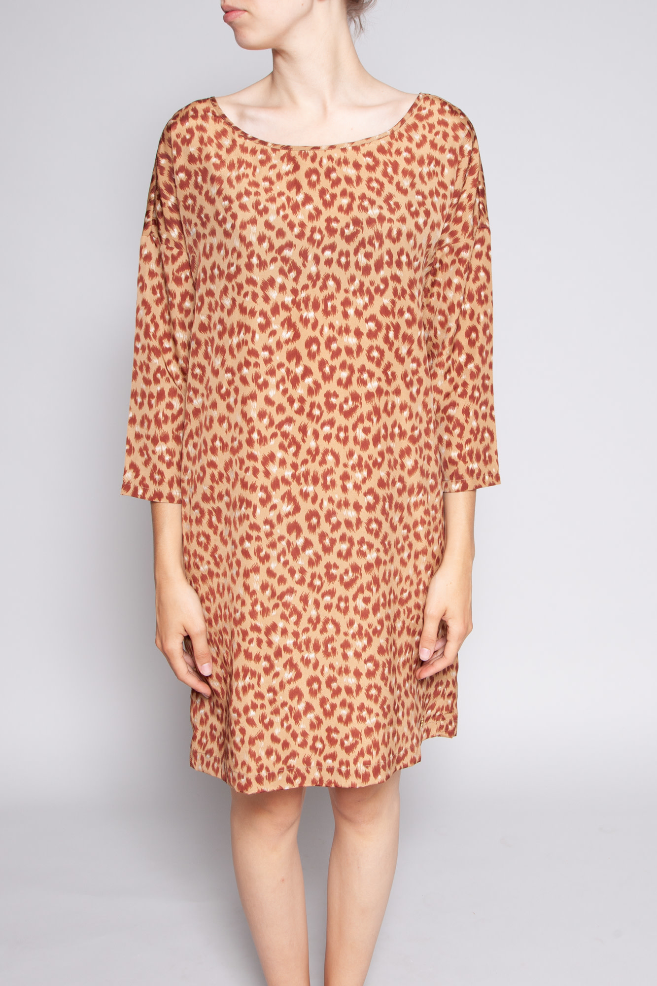 Des petits hauts BROWN LEOPARD PRINT DRESS