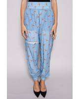 Notes du Nord BLUE TROUSERS WITH DOGS PATTERN - NEW WITH TAG