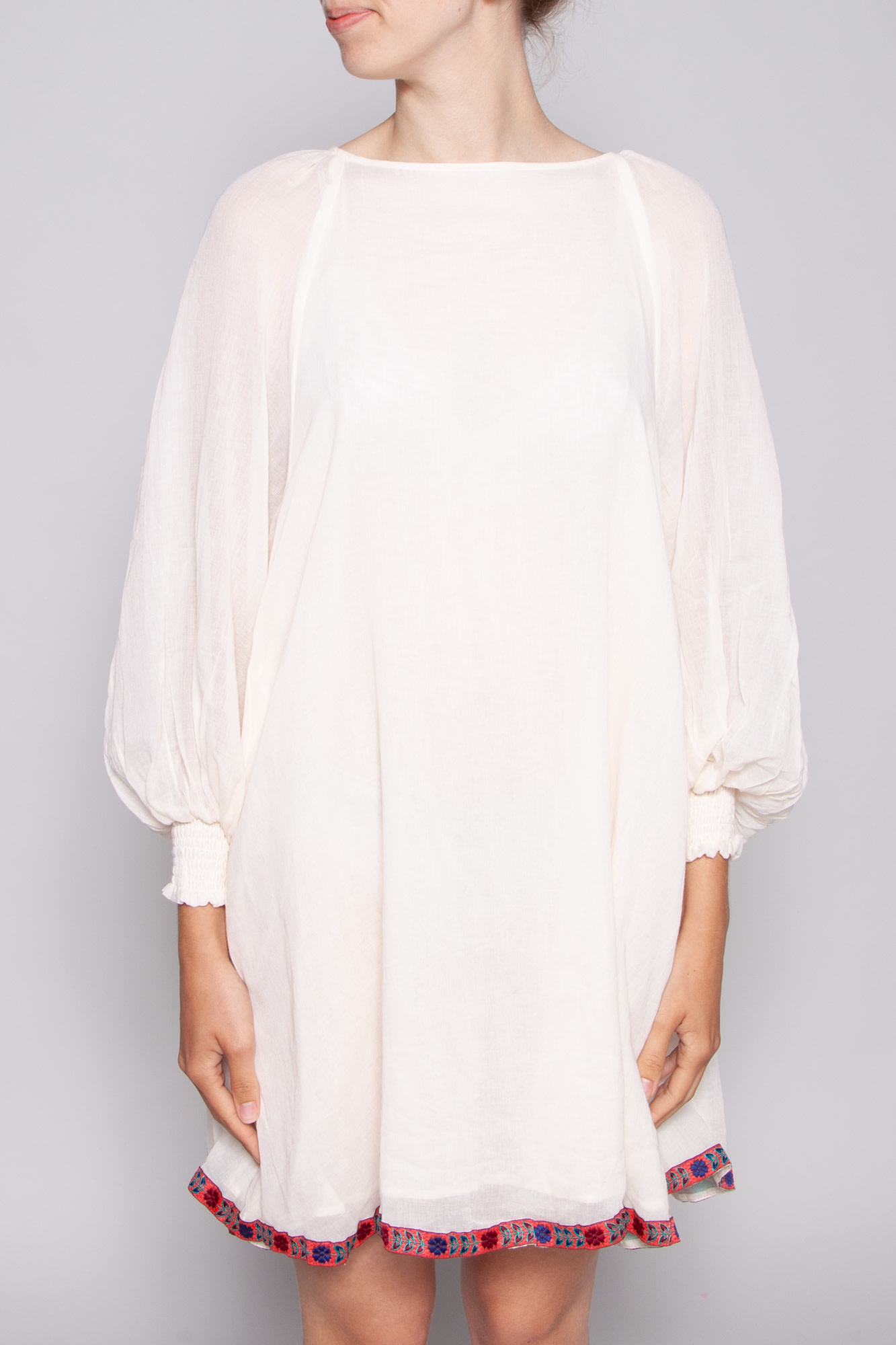 Pitusa WHITE DRESS WITH EMBROIDERY - NEW WITH TAG