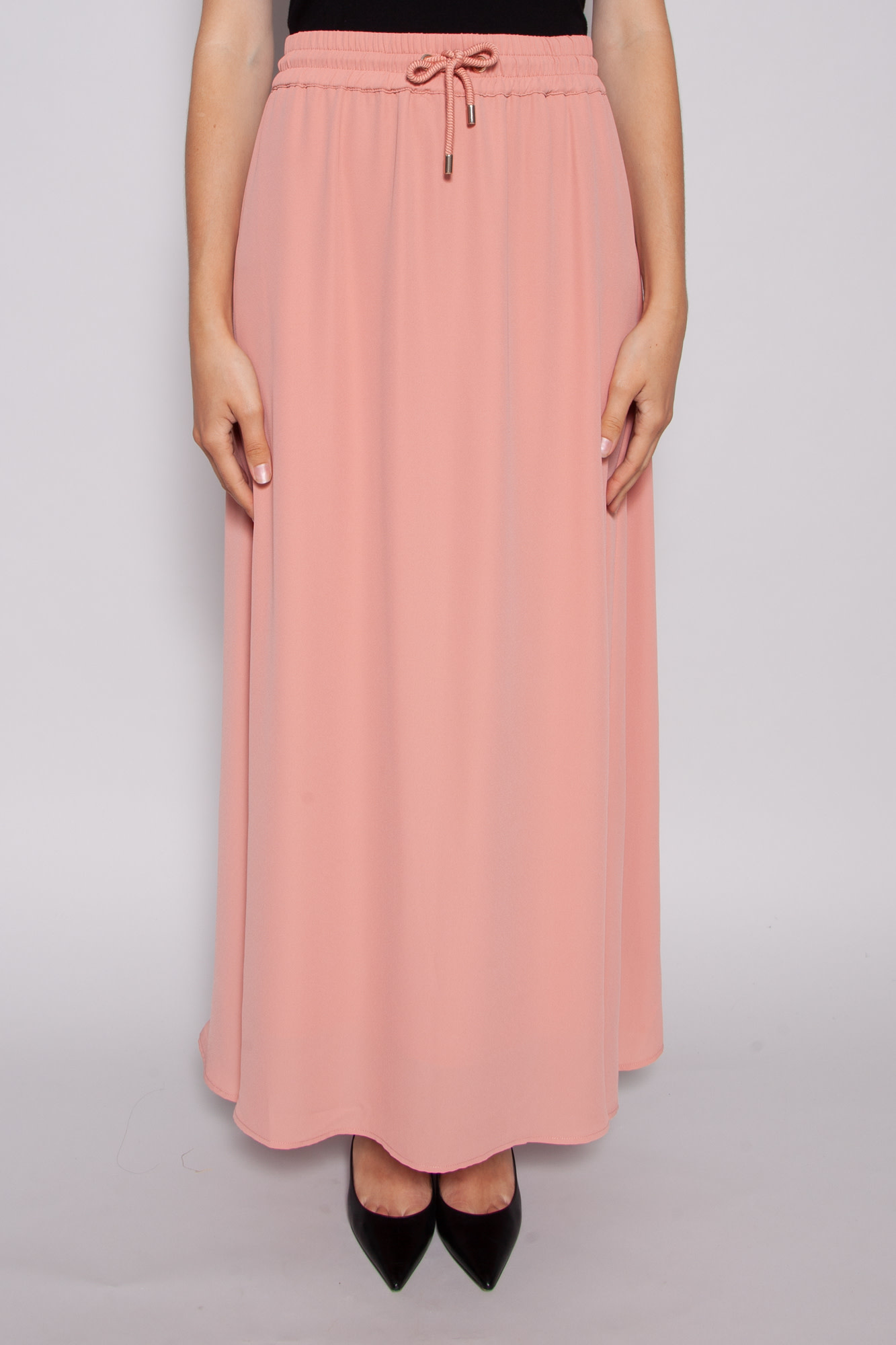 Notes du Nord FLUID PINK SKIRT WITH CORD AT THE WAIST