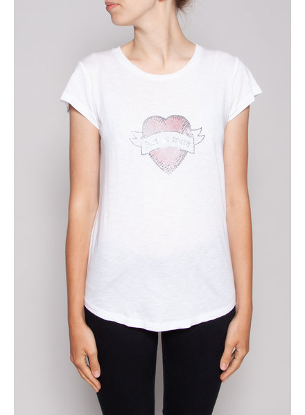 """Zadig & Voltaire WHITE T-SHIRT """"ART IS TRUTH"""""""
