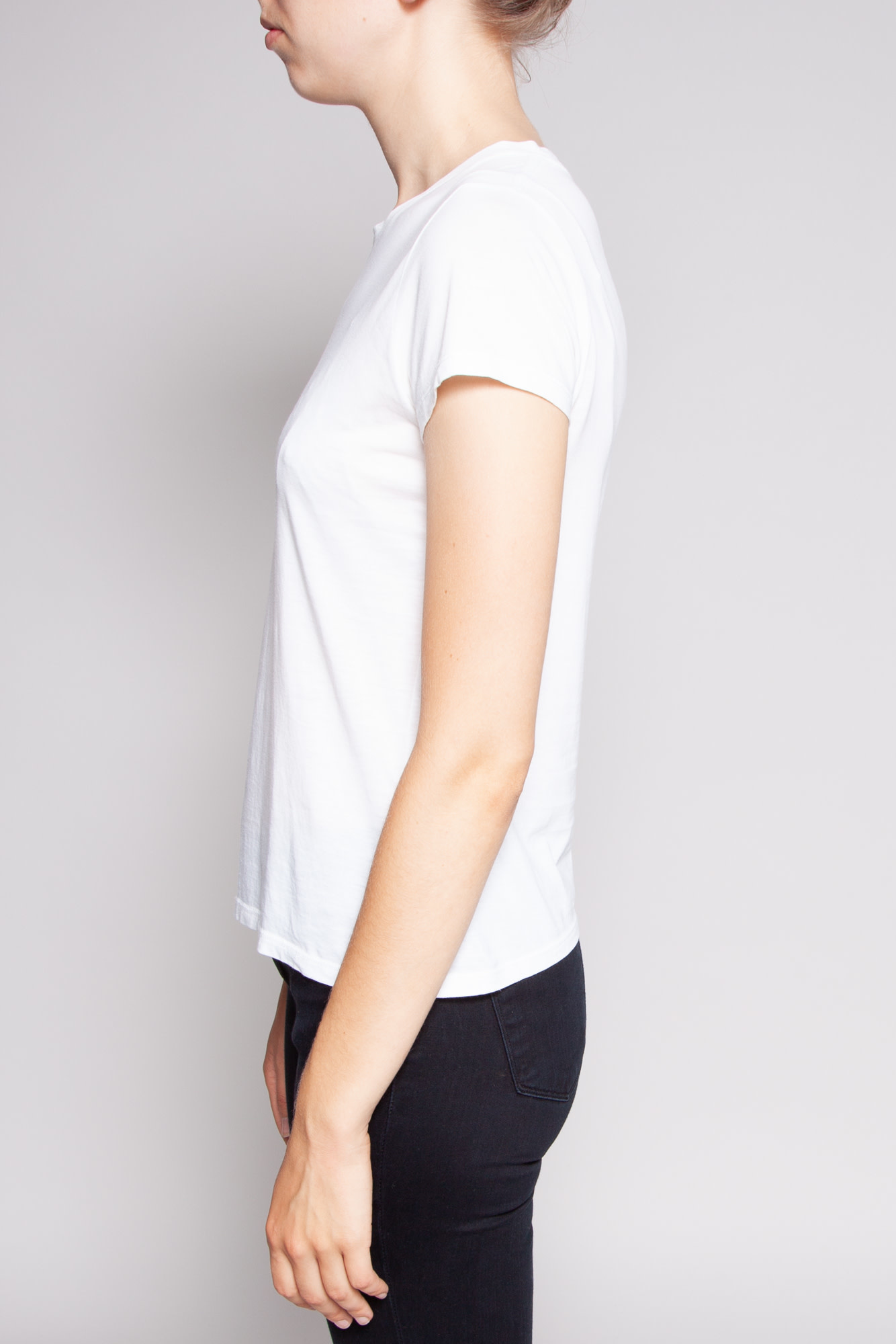 Vince WHITE PIMA COTTON T-SHIRT