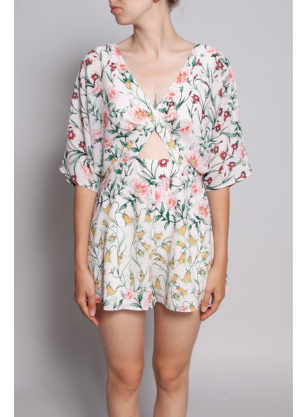 Ali & Jay PINK FLORAL PLAYSUIT