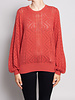 Joie SALMON SWEATER WITH EMBROIDERY AND LONG SLEEVES
