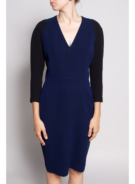 Victoria  Beckham NAVY AND BLACK DRESS